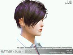 MAY Sims: May Hair 116M - Sims 4 Hairs - http://sims4hairs.com/may-sims-may-hair-116m/