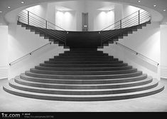 Beautiful use of hourglass formation for stairs, forcing people to interact at…