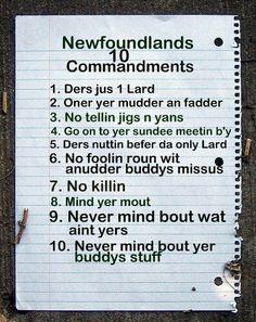Funny newfoundland sayings