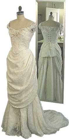 All Edwardian brides were married in white if they could afford it, but their dresses tended to be more practical than those worn today.   White weddings were unheard of before the 18th century. The idea of splashing out to dress a bride in a gown that was going to be practically useless after the big day first caught on among the wealthy as a way of showing off the family's status. Eighteenth-century Britain was much preoccupied with money and class and its wedding customs reflected this…