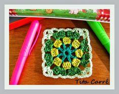 Square Crochet Green child e a Poesia de Meireles