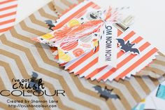 Crush On Colour: Creativity Hop - I'm it!  (Stampin' Up halloween 2014 treat bags: chevron bags, Freaky Friends, Ghoulish Greetings, Motley Monsters DSP.)