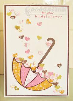 Handmade Bridal Shower Card ... Umbrella Die ... EnchantINK