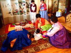 Traditional Korean Wedding Bow