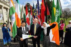Prof Brian McGrath with DCU International Student Ambassadors. 11th Apr  2014 Dublin City ba47bb156631