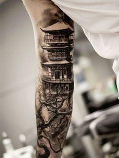 tatuajes estilo japones brazo
