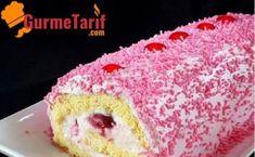 Orman Meyveli Rulo Pasta Tarifi Cafe Bar, Vanilla Cake, Tart, Muffin, Food And Drink, Breakfast, Desserts, Cream Pie, Morning Coffee