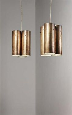 Gio Ponti Attributed; Copper Ceiling Lamps, 1960s.