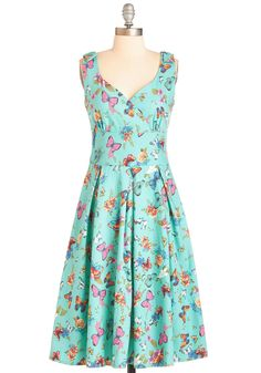 Wing the Blues Dress | Mod Retro Vintage Dresses | ModCloth.com