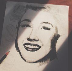 unfinished  #art #practice #sketch #marilynmonroe