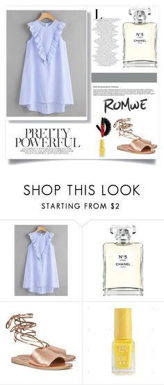 """Napeit"" by maine333 ❤ liked on Polyvore featuring Chanel and Ancient Greek Sandals"