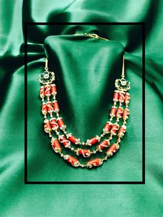 Diamond coral neckla Diamond coral for more details watsapp on 8106600066 mail on Kalyanigold . Emerald Jewelry, Gems Jewelry, Bridal Jewelry, Beaded Jewelry, Beaded Necklace, Gold Jewellery, Necklaces, Diamond Necklace Simple, Diamond Choker Necklace