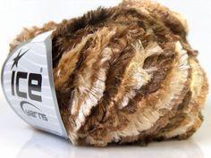 Sale Smore Ephesus Ice Double Feather Boa Eyelash Yarn Brownwhite 20910 Freeshus | eBay