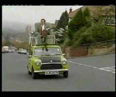 This video is absolutely hilarious. It shows Mr. Bean driving his Mini Cooper with a broom! I laugh everytime I watch this video. This video is of professional quality because it has been provided directly from the A Channel. British Tv Comedies, British Comedy, Mr Bean, Famous Movie Cars, Film Gif, Cars Youtube, Conduit, Comedy Tv, Have A Laugh