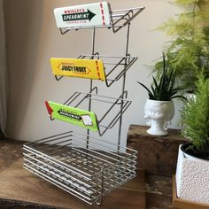 Excited to share this item from my shop: Vintage bubble gum storage rack / Wrigley Spearmint Doublemint Juicy Fruit / convenient store decor / fun storage / candy store Storage Rack, Storage Baskets, Vintage Love, Vintage Items, Juicy Fruit, Ceramic Wall Tiles, Kitchen Nook, Chewing Gum, Candy Store