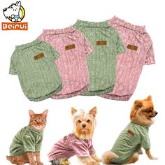 Dog Hoodies Cute Printed Summer Pets Tshirt Puppy Dog Clothes Pet Cat Vest Cotton Chihuahua T Shirt Apparel Dog Clothes For Small Dogs Harmonious Colors