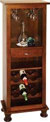 Amish Furniture - Hand Crafted Vintner Wine Tower: Oak