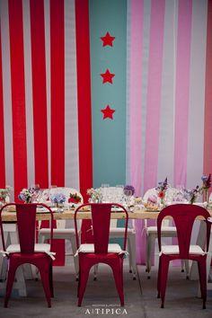 Circus theme decorations at an A-Tipica wedding #weddingdecoration #decoracionbodas #tendenciasdebodas