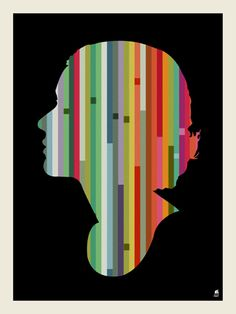 """$25 Striped Woman/ Mark McDevittscreen / print, signed and numbered edition of 125  18"""" x 24"""""""