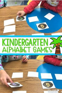 This alphabet activity is a classroom favorite, but students love this Chicka Chicka Boom Boom ABC game! Alphabet Games For Kindergarten, Kindergarten Lesson Plans, Teaching The Alphabet, Kindergarten Literacy, Literacy Centers, Preschool Alphabet, Preschool Kindergarten, Phonemic Awareness Activities, Alphabet Activities