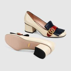 Women - Pumps for Women Gucci Shoes Sneakers, Gucci Brand, Shoes World, Block Heel Shoes, Heeled Loafers, Mode Style, Women's Pumps, Comfortable Shoes, Me Too Shoes