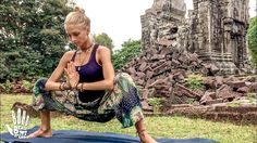Fit Life Videos - Yoga For Tight Hips & Flexibility ♥ Mind- Body Release Yoga Detox, Yoga Today, Yoga Routine For Beginners, Lower Back Exercises, Hip Stretches, Temple Ruins, Different Types Of Yoga, Youtube Workout, Chair Yoga