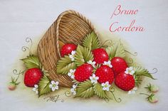 Painting Tips, Painting & Drawing, Strawberry Art, Deco Paint, Strawberry Decorations, Bee Crafts, Fruits And Vegetables, Beautiful Landscapes, Lily
