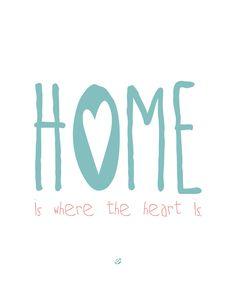 LostBumblebee ©2014 Home is where the heart is #freeprintable #freeprintables #artprints