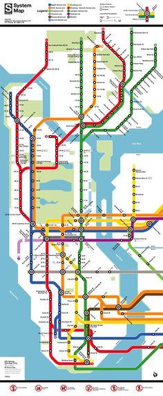 Lignes de métro a NYC