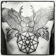 owl dotwork tattoo - Google otsing