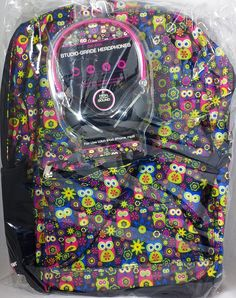 Camping Bags : Backpack and accessories :Star Point Owl Backpack with Headphones *** Awesome product. Click the image : Camping Bags Backpack and accessories