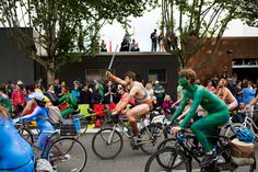 The quirky neighborhood's body-powered, art-driven parade registers another blowout