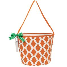 Monogram with VT  Orange Dot Game Day Tailgate Bucket