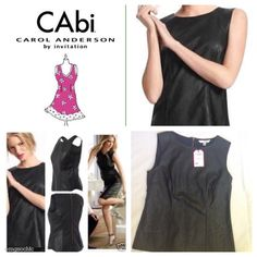 Black Friday CAbi Black Faux Leather NWT - CAbi 506 Fleather Shell Black Tank Faux Leather. I bought from an end of season sale for $40. The only (possible) imperfection that I noticed is seen in the last picture by the tag. Didn't even notice it till I was taking these pictures. CAbi Tops