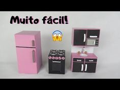 Barbie Dolls Diy, Barbie Doll House, Doll Furniture, Dollhouse Furniture, Craft Stick Crafts, Diy Crafts, Ice Cream Stick Craft, Kitchen Sets For Kids, Doll House Crafts