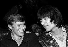 David Bowie & Dee Dee Ramone, 1976.