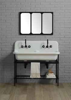 double washbasin truecolors 120cm + support