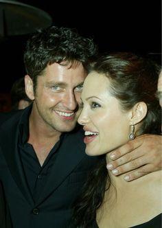 gerard butler & angelina jolie, lara croft premiere, 2003
