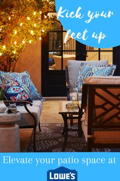 Kick your feet up with patio sets at Lowe's! #outdoor #spring #summer