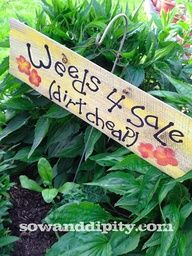 old wood garden signs - Google Search