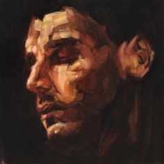 Andrew Salgado- Used this technique in my sepia tones large portrait when experimenting. Oil Portrait, Abstract Portrait, Figure Painting, Painting & Drawing, Traditional Paintings, Artist Art, Art Studios, Figurative Art, New Art
