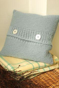 Chunky knit cushion - Making