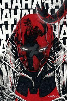 Red Hood by Jimbo Salgado Red Hood Comic, Red Hood Dc, Batman Red Hood, Im Batman, Batman Art, Comic Books Art, Comic Art, Red Hood Wallpaper, Mode Cyberpunk