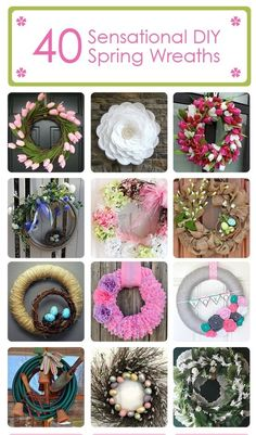 #42 DIY Beautiful DIY Spring Wreaths with tutorials ! by @Hometalk