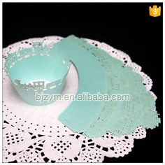 Check out this product on Alibaba.com APP Mint color style wedding engagement decorations bakery exhibition tools cupcake packaging single holder lace Cupcake Wrappers