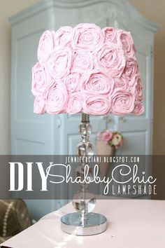 Learn how to create this DIY shabby chic lamp shade with Simply Ciani.