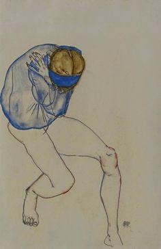 Egon Schiele, Unknown 1913 on ArtStack #egon-schiele #art