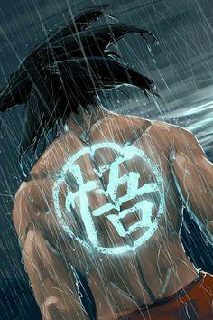 Goku con su simbolo/