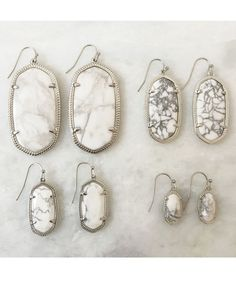 Elle Earrings in White Howlite - Kendra Scott Jewelry-But they don't have to be Kendra Scott..but something like the top left