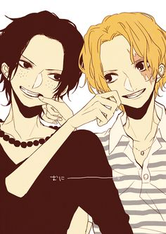 Tags: Anime, Beads, ONE PIECE, Freckles, Portgas D. Ace, Wavy Hair, Pinching